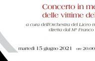 15 giugno: concerto in memoria delle vittime del Covid